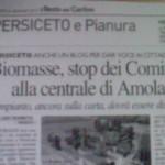 Stop dei comitati alla centrale di Amola